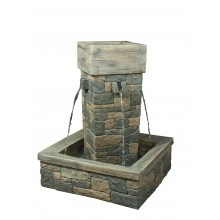 Stone Pillar Water Fountain