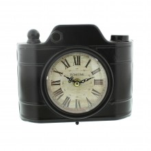 Widdop Metal Clock (Old Fashioned Camera Design)