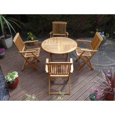 Rondeau Kent Stanford Round Outdoor Dining Set