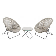 Outdoor TOBS Faux Rattan Folding Lounge Furniture Set