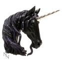 Jewelled Midnight Unicorn Bust 31cm