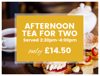 Indulge with a afternoon tea or cream tea