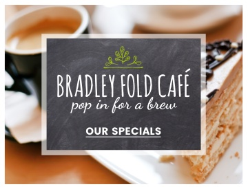 Bradley Fold café, pop in for a brew