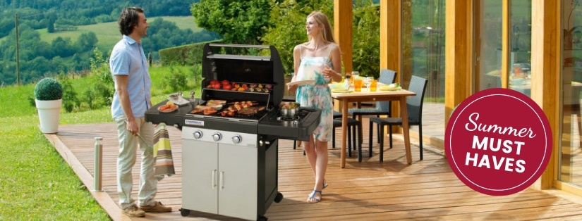 Enjoy outdoor cooking this summer with a stylish gas barbeque