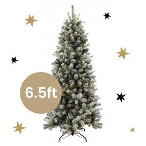 Snowy Pine Cone Slim Tree - 6.5ft
