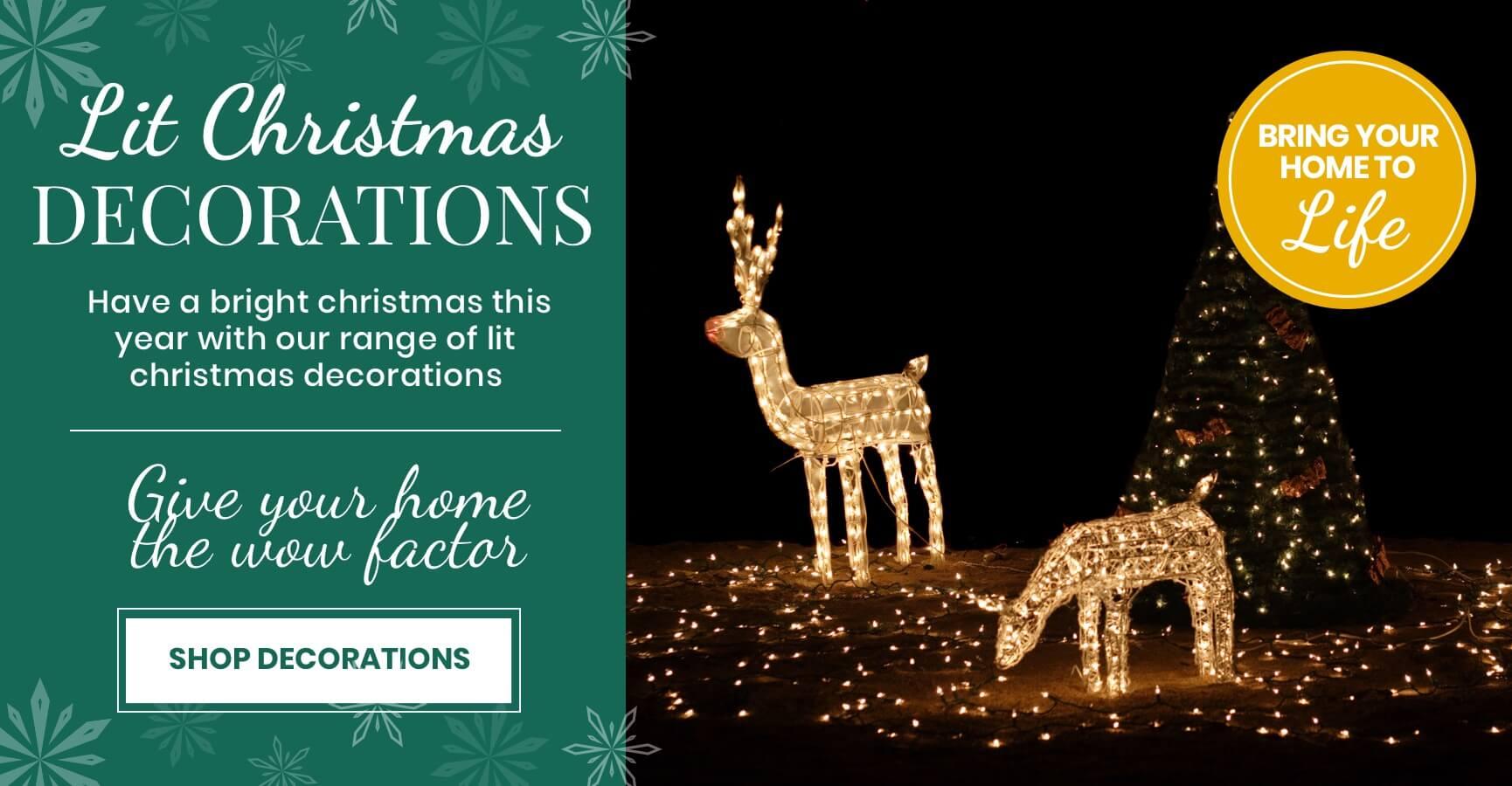 Lit Christmas Decorations