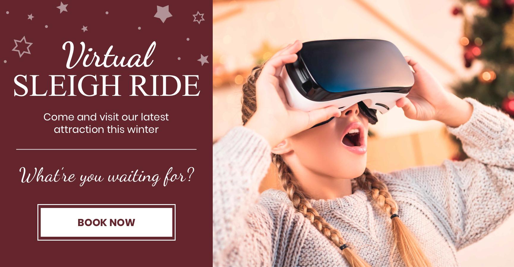 Virtual Reality Sleigh Ride - Book Now